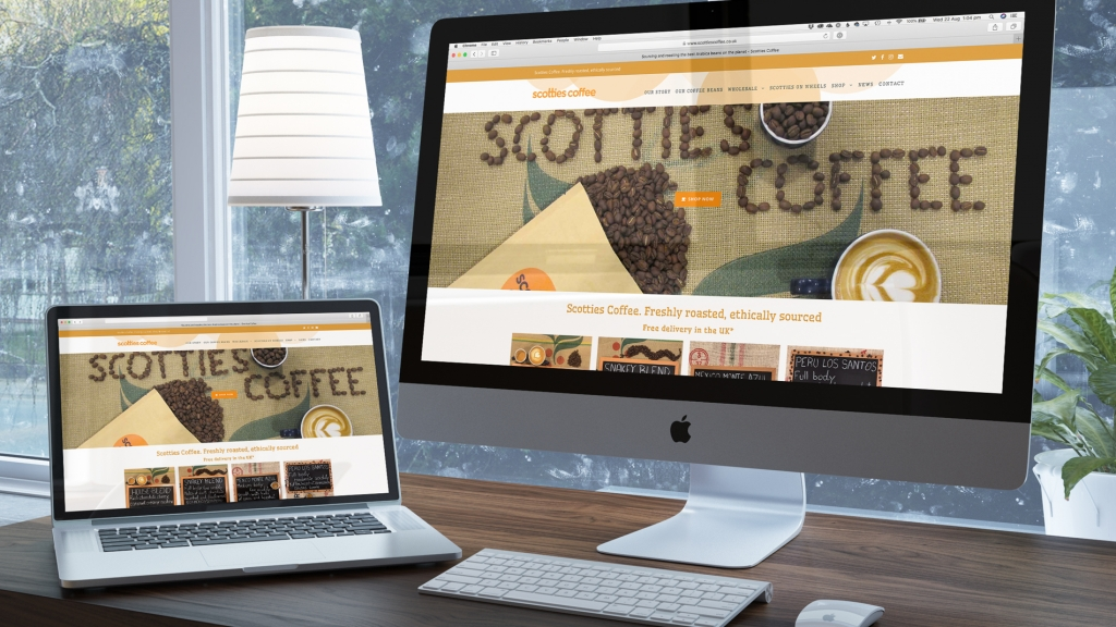Scotties Coffee website redesign and launch